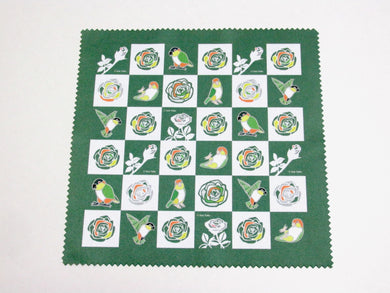 White-bellied Caique & Black-headed Caique Lens Cloth Microfiber Cloth