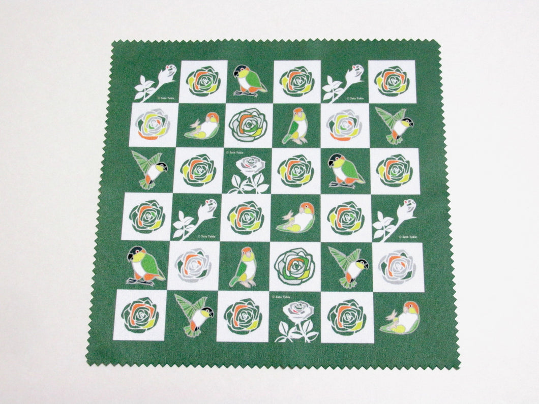 White-bellied Caique & Black-headed Caique Lens Cloth Microfiber Cloth - Boutique SWEET BIRDIE