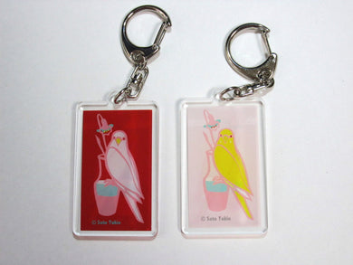 Budgie Budgerigar Parakeet Key Holder - Boutique SWEET BIRDIE