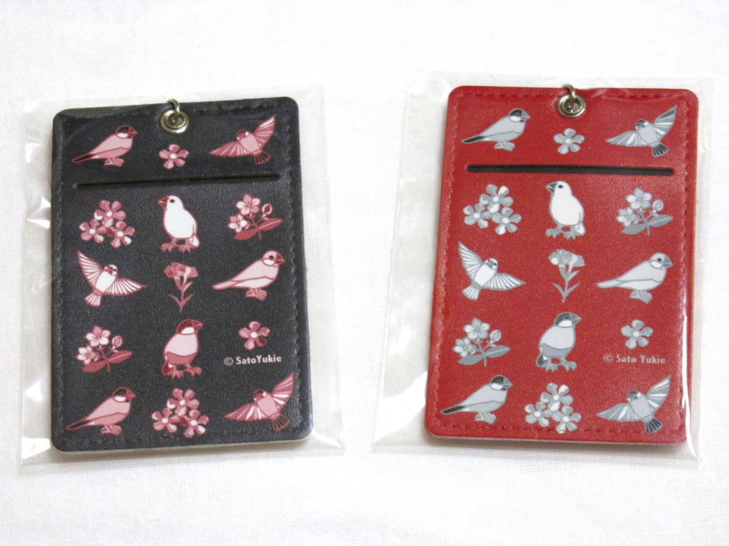 Java Sparrow Pass Holder - Boutique SWEET BIRDIE