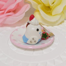 Miniature Budgie Budgerigar Parakeet with Strawberry Cupcake - Boutique SWEET BIRDIE