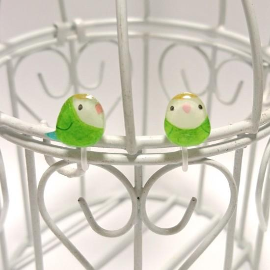 Lovebird Invisible Clip On Non Pierced Earrings - Boutique SWEET BIRDIE