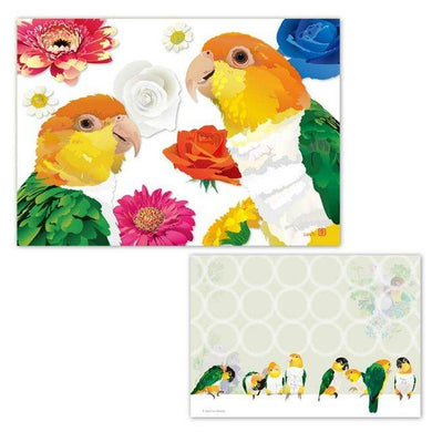 White-Bellied Caique & Black-Headed Caique Memo Pad
