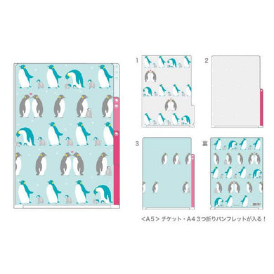 Penguin A5 File Folder Organizer with 3 Pockets - Boutique SWEET BIRDIE