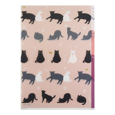 Cat A4 File Folder Organizer with 3 Pockets - Boutique SWEET BIRDIE