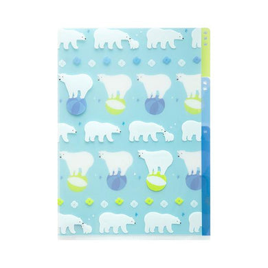 Polar Bear A5 File Folder Organizer with 3 Pockets - Boutique SWEET BIRDIE