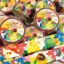 Bird Masking Tape Washi Tape Spring Time Lovebird Pacific Parrotlet Cockatiel Budgie Budgerigar Parakeet