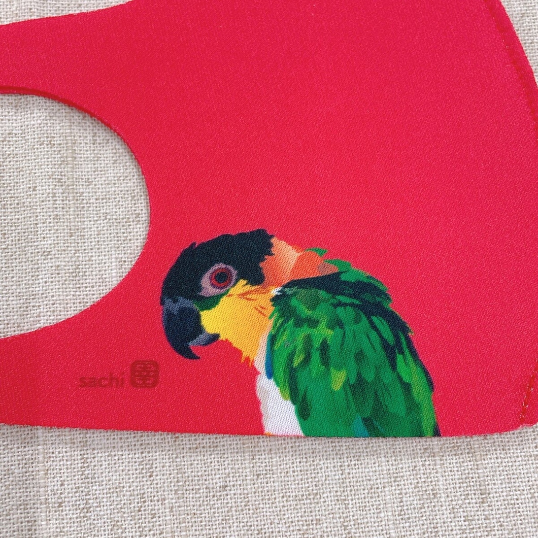 Black-Headed Caique Reusable Face Mask Medium Size for Women & Children