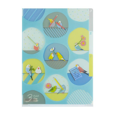 A6 File Folder Organizer Cockatiel Budgie Budgerigar Parakeet, Java Sparrow Pacific Parrotlet Lovebird Bourke's Parrot - Boutique SWEET BIRDIE