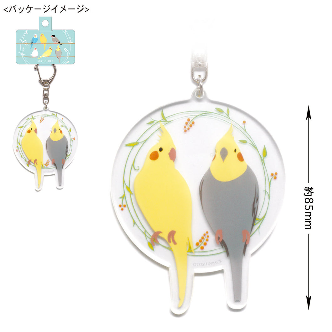 Cockatiel Acrylic Key Holder