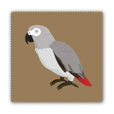 African Gray Parrot Lens Cloth Microfiber Cloth