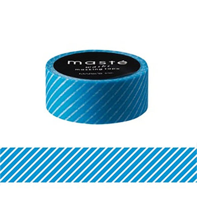 Stripe Neon Blue Maste Japanese Washi Tape Masking Tape - Boutique SWEET BIRDIE