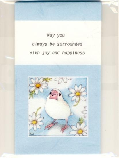 Sets of 3 Java sparrow Mini Envelopes - Boutique SWEET BIRDIE