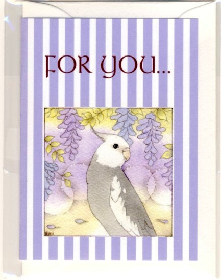 Cockatiel Message Card Note Card Emi-96