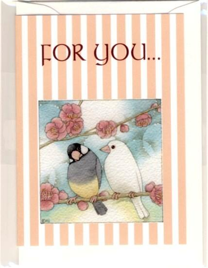 Java Sparrow Message Card Note Card - Boutique SWEET BIRDIE