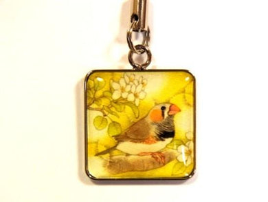 Zebra Finch Charm - Boutique SWEET BIRDIE