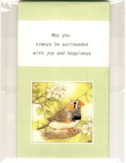 Sets of 3 Zebra Finch Mini Envelopes - Boutique SWEET BIRDIE
