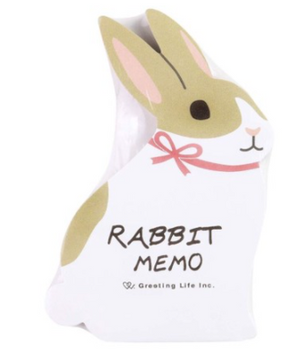 Rabbit Die Cut Memo Pad