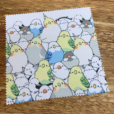 Budgie Budgerigar Parakeet Cockatiel Java Sparrow Finch Long-tailed Tit  Lens Cloth Microfiber Cloth - Boutique SWEET BIRDIE