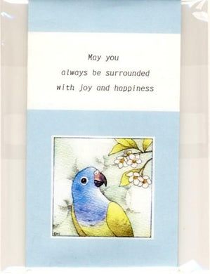 Sets of 3 Blue-Headed Parrot Mini Envelopes - Boutique SWEET BIRDIE