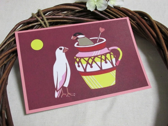 Java Sparrow Postcard Yukie-28