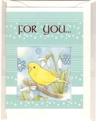 Budgie Budgerigar Parakeet Message Card Note Card - Boutique SWEET BIRDIE