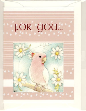 Major Mitchell's Cockatoo Message Card Note Card Emi-335 - Boutique SWEET BIRDIE