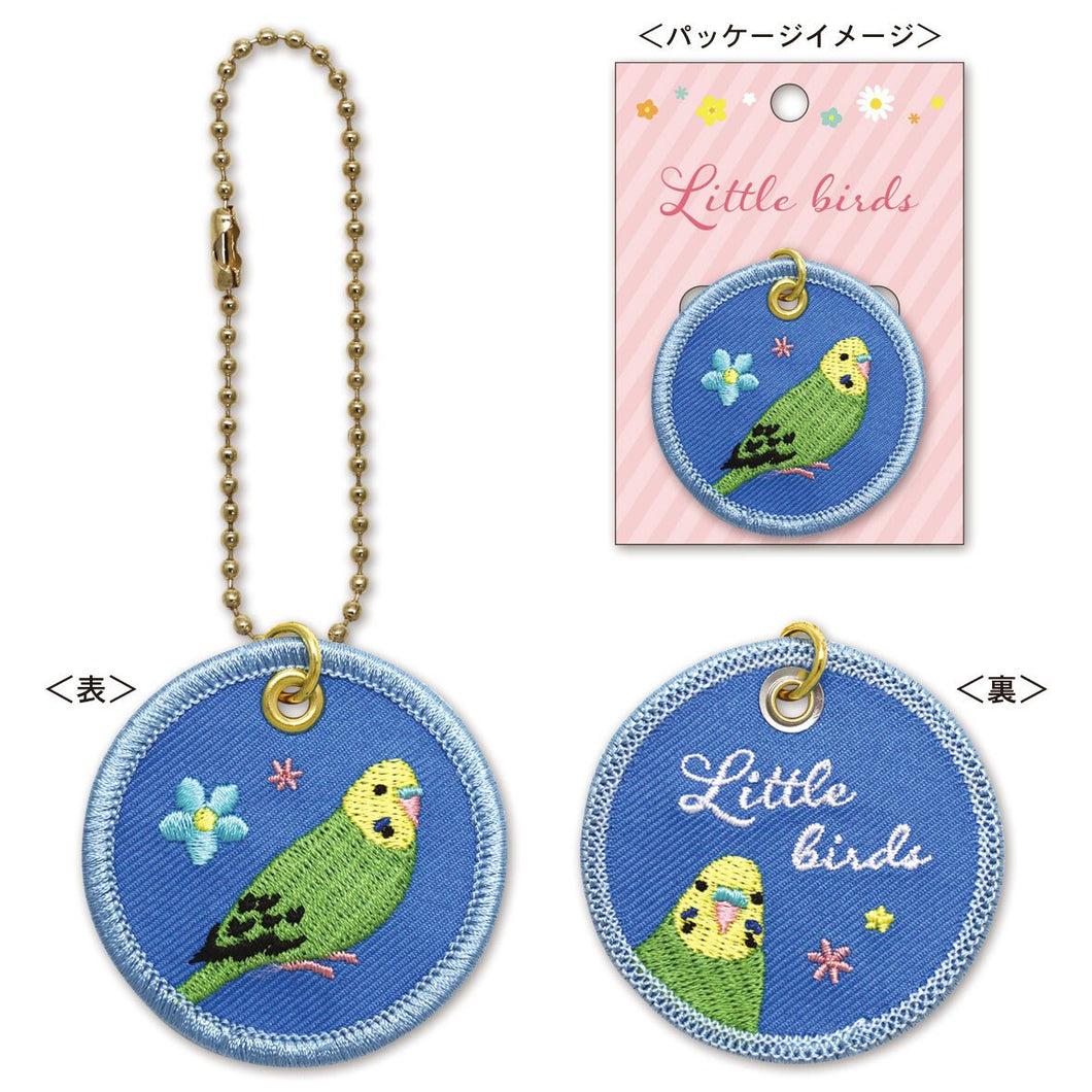 Budgie Budgerigar Parakeet Embroidery Key Holder - Boutique SWEET BIRDIE