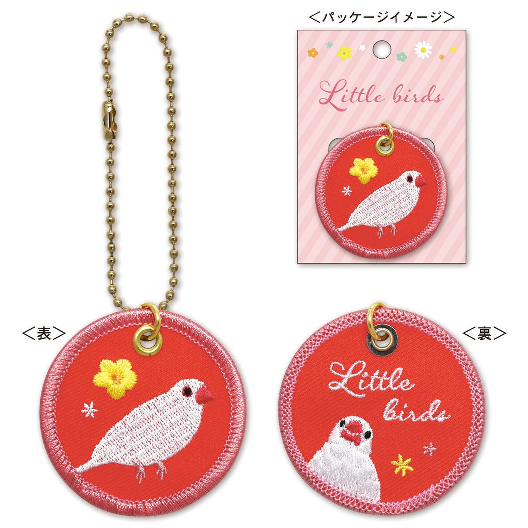 Java Sparrow Embroidery Key Holder - Boutique SWEET BIRDIE