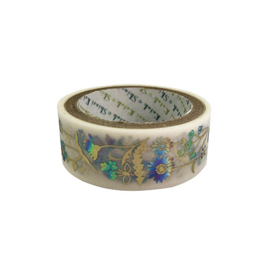 Flower Matt Gold & Rainbow Glitter Japanese Washi Tape Shinzi Katoh Design ks-dt-30005 - Boutique SWEET BIRDIE