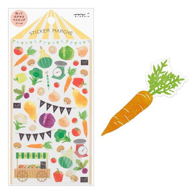 Vegetable Japanese Washi Stickers - Boutique SWEET BIRDIE