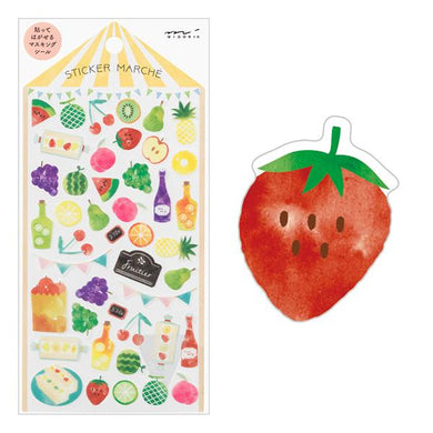 Fruit Japanese Washi Stickers - Boutique SWEET BIRDIE