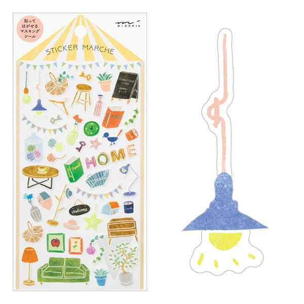 Interior Japanese Washi Stickers - Boutique SWEET BIRDIE