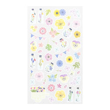 Flower Pressing Japanese Washi Stickers with Silver Accent (82453-006) - Boutique SWEET BIRDIE