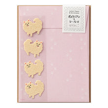 Pomeranian Dog Letter Set with Stickers 86312006