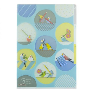A4 File Folder  Organizer Cockatiel, Parakeet, Java Sparrow, Lovebird, Parrotlet - Boutique SWEET BIRDIE
