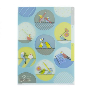 A5 File Folder Organizer Cockatiel Budgie Budgerigar Parakeet Bourke's Parakeet Java Sparrow Lovebird Pacific Parrotlet - Boutique SWEET BIRDIE