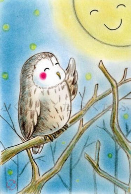 Owl Postcard - Boutique SWEET BIRDIE