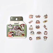 Penguin & Chocolate Glitter Stickers Flakes