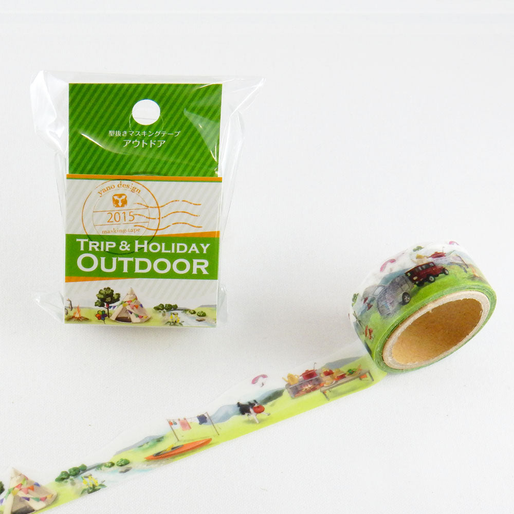 Trip & Holiday Outdoor Japanese Die Cut Washi Tape Masking Tape - Boutique SWEET BIRDIE