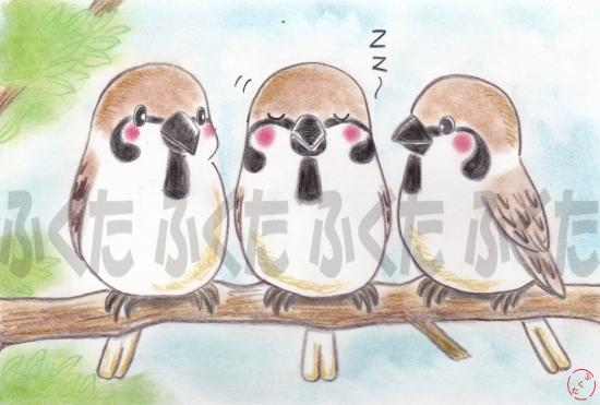 Tree Sparrow Postcard - Boutique SWEET BIRDIE