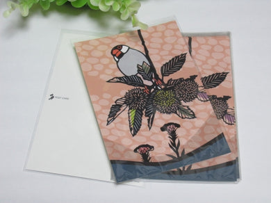 Java Sparrow Postcard Yukie-40 - Boutique SWEET BIRDIE