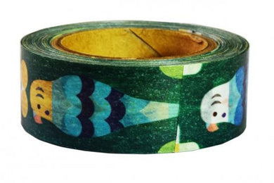 Budgie Budgerigar Parakeet Bird Japanese Washi tape - Boutique SWEET BIRDIE