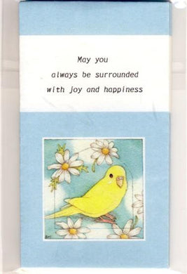 Sets of 3 Budgie Budgerigar Parakeet Mini Envelopes - Boutique SWEET BIRDIE