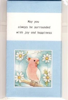 Sets of 3 Major Mitchell's Cockatoo Mini Envelopes - Boutique SWEET BIRDIE