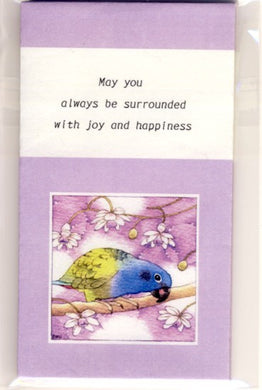 Sets of 3 Blue-Headed Parrot Mini Envelopes Emi-503 - Boutique SWEET BIRDIE