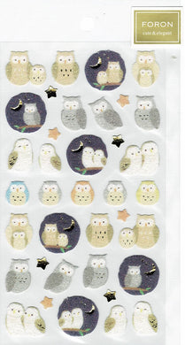 Owl Stickers with Glitter Accent 5214117 - Boutique SWEET BIRDIE