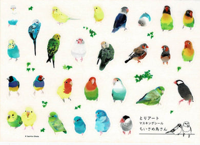 Budgerigar Pacific Parrotlet Lovebird Gouldian Finch Zebra Finch Java Sparrow Japanese Washi Stickers