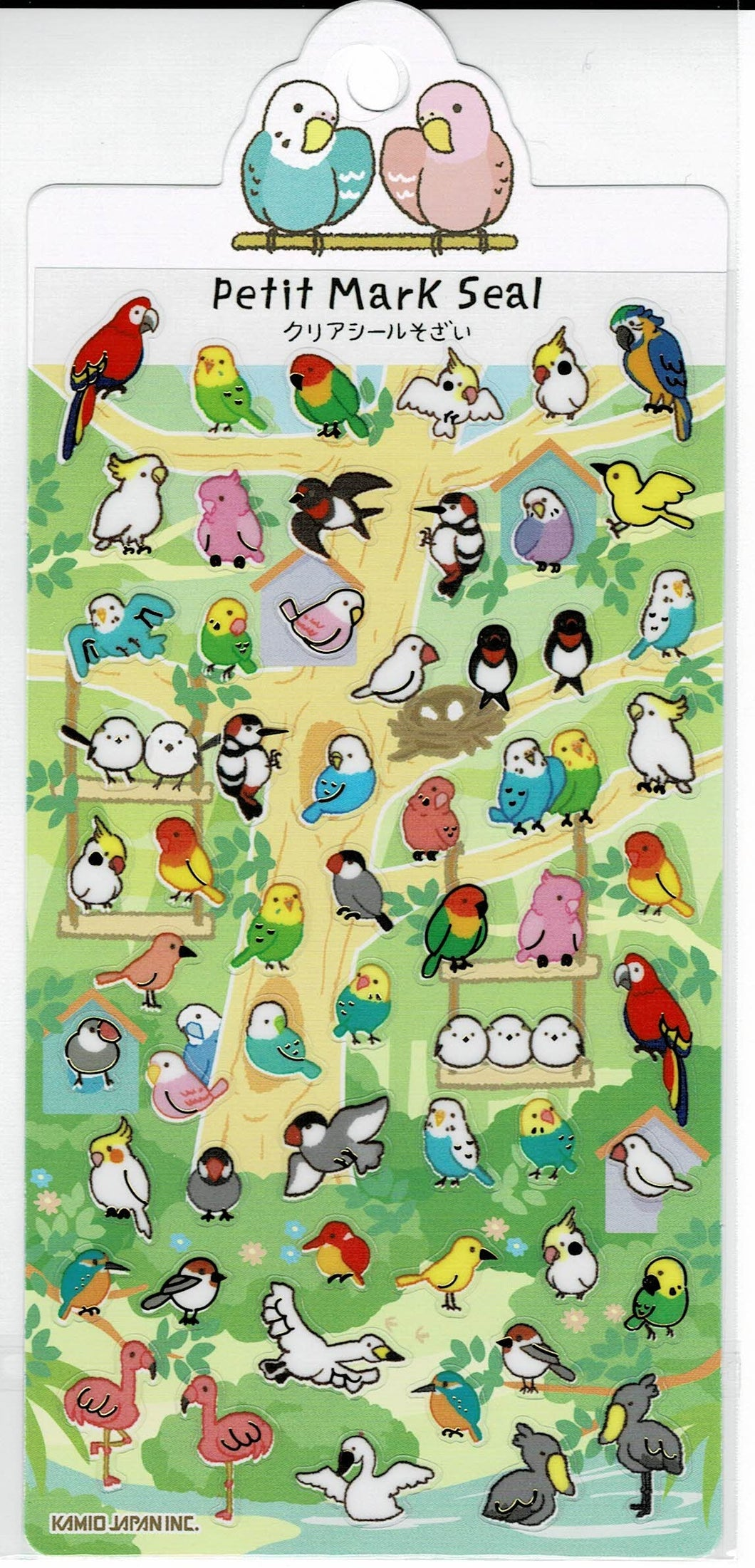 Birds on the Tree Stickers with Gold Accent Budgie Budgerigar Parakeet Love Bird Cockatiel Macaw Java Sparrow Bourke's Parakeet Java Sparrow Cockatoo Long-tailed Tit Flamingo Shoebill, etc. - Boutique SWEET BIRDIE