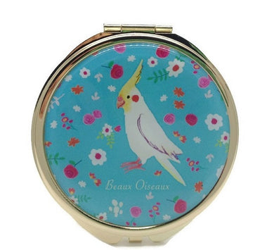 Compact Mirror Pocket Mirror Cockatiel - Boutique SWEET BIRDIE